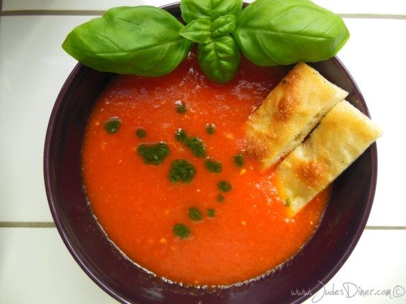 Gegrilde paprika-tomatensoep bericht